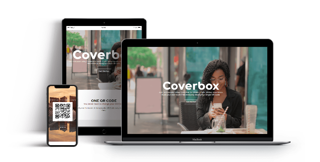 Coverbox Website Mockup